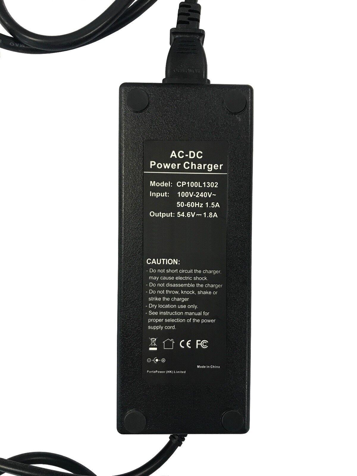 Chargeur pour Lithium-Ion trikke Elektroscooter Lithium-Ion pour Batteries (48v-12 Ah) e5c0ff