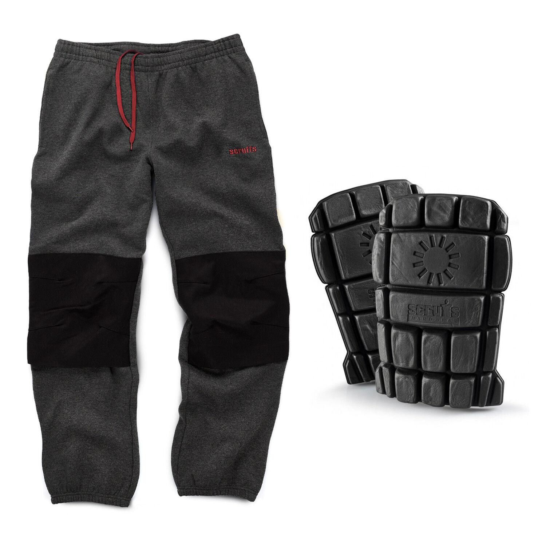 Scruffs Fleece Pants Dark Grey Trousers with Scruffs Hardwearing Knee Pads