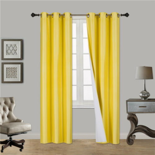 1 SINGLE PANEL FOAM LINED SOLID BLACKOUT SALE LIMIT TIME OFFER CLOSEOUT YELLOW