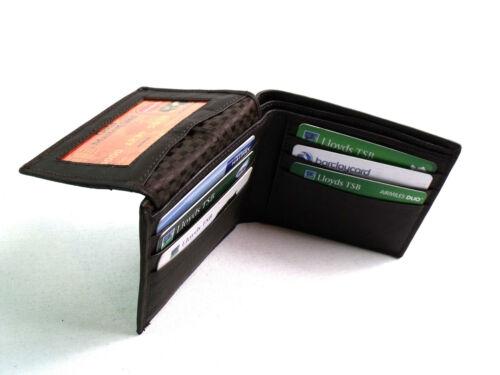 Da Uomo Designer Marrone Premium Genuine Leather Wallet porta carte di credito Scatola Regalo