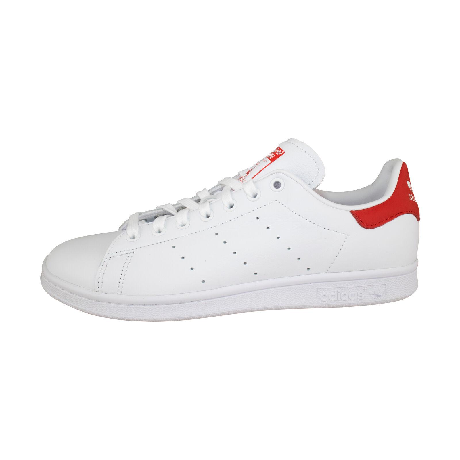 Adidas Originals Stan Smith weiß rot Turnschuhe Damen Freizeitschuhe EF4334