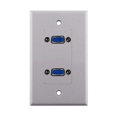 Dual VGA Wall Plate-Pass Through White