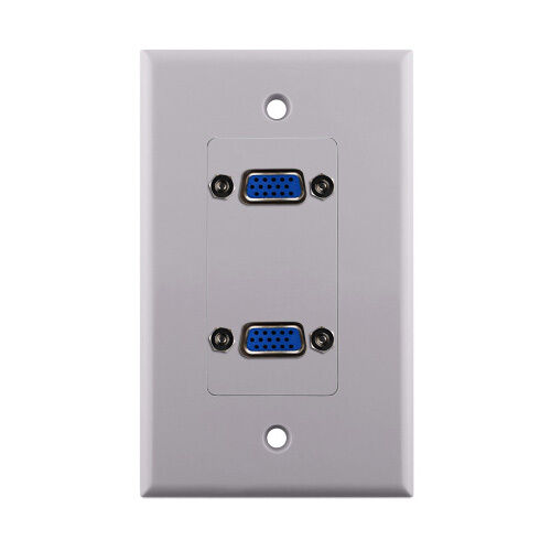 Dual VGA Wall Plate-Pass Through White