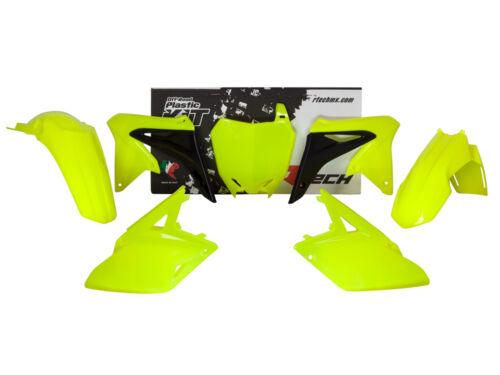 Racetech plástico completo conjunto de kit piezas suzuki amarillo flúor AMORT 250 2010-2017