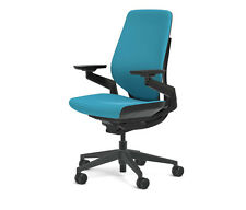 new steelcase gesture chair adjustable cogent connect shell black frame blue jay