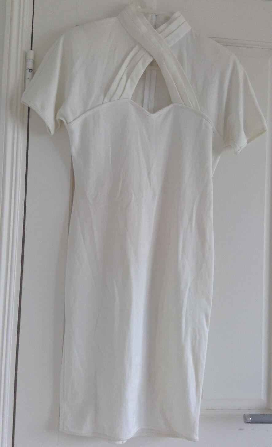 Spazio off-white cotton bodycon dress - Size  38