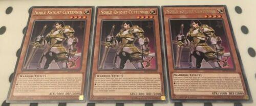 x3 Noble Knight Custennin MP19-EN141 Rare 1st