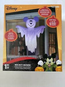 Gemmy-Disney-4-ft-Halloween-Mickey-Mouse-Ghost-Airblown-Inflatable-NIB