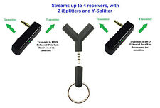 KOKKIA iSplitter_X2_Ysplitter: 2 iSplitter Bluetooth Transmitters to 4 Receivers