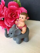 1PC Baby Shower Elephant Cake Topper Decorations Animals Safari Figurines Jungle