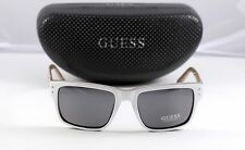 New Guess Men's Polarzied Sunglasses GUP 1010 White 55-18-140 w Case Retail $110
