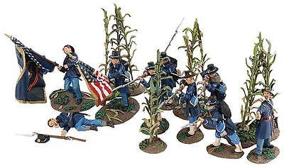 Union und Konföderierter Infanterist im Kampf,31225 W Britain  ACW Homerun