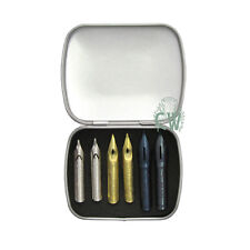 Metal Nib Box Set of 6 J Herbin Dip Pen Nibs. Calligraphy Artists Collection.