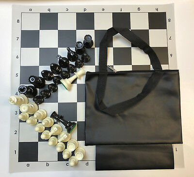 Black Chess Bag /& Board 2 lb Weight Chess Pieces Quiver Chess Set Combo 2XQ