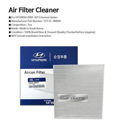 OEM Genuine Parts Cabin Air Filter 97133-3M000 for HYUNDAI 2009-13 Genesis Sedan