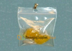 "500 pcs Clear Hang Hole Poly Plastic Reclosable Bags 2 Mil 2"" x 3"""
