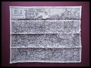 WWII Piloti Raf Seta Escape E Evasion Mappa Singolo Lati, Germania, Scarpe 1940s