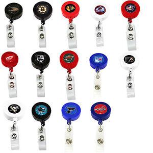 Hockey-NHL NHL Hockey Pick Your Team Retractable Badge Reel ID Holder Cities A-O
