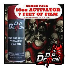 16oz Hydrographic Film Activator Red Riding Skulls Hydro Dip Dipping Wizard