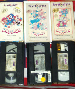 Popples-VHS-1986-Cartoon-TV-Toys-Animated-Magic-Window-Video-Rare-Set-Lot