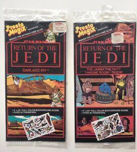 Presto-Magix-039-83-vtg-transfers-SET-OF-2-Darth-Vader-Ewok-Boba-Fett-Star-Wars-NEW