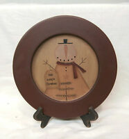 Primitive Snowman Wood Plate Make A Simple Christmas Plate With Stand