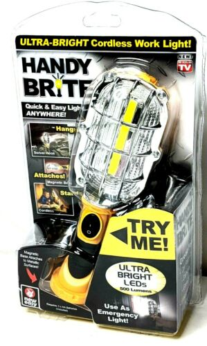 Handy Brite Ultra-Bright 500 Lumens LED Cordless Work Light Lamp Any Surface