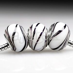 5pcs-Murano-Glass-European-Spacer-Beads-Lampwork-Fit-Bracelet-Chain-LB0063-FB
