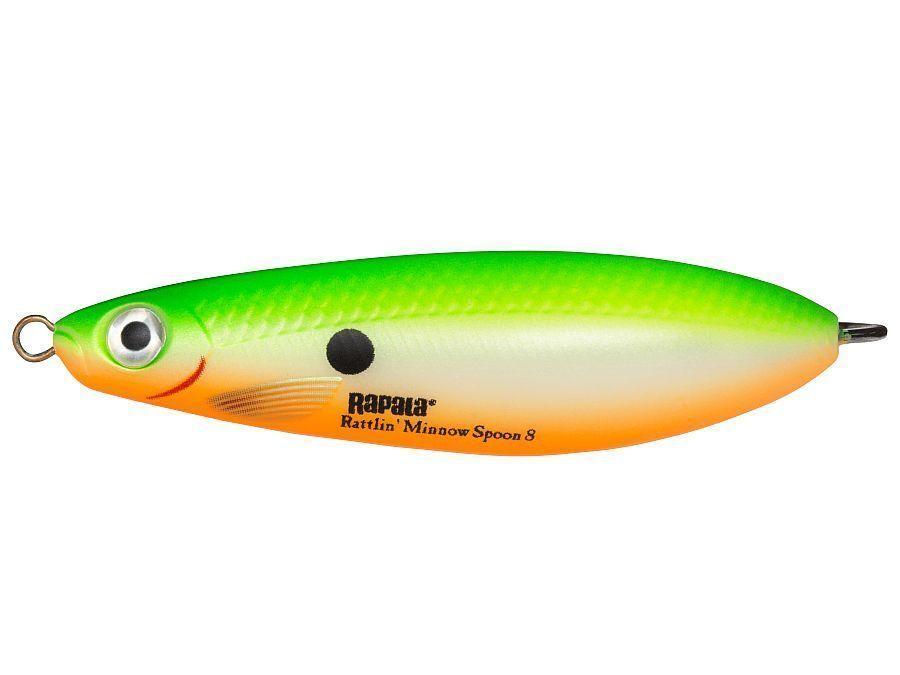 Rapala Rattlin/' Minnow Spoon //// RMSR08 //// 8cm 16g Fish Lures Choice of Colors