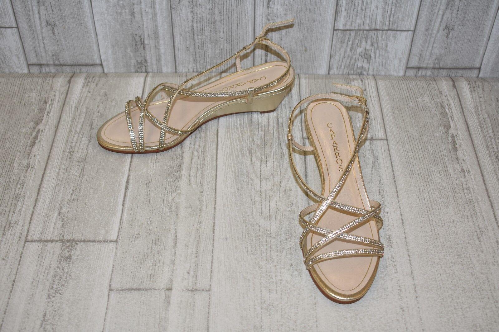 Caparros Leighton Sandals, Women's Size 8.5 W, Platinum