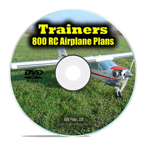 Details about 800 Trainer RC Radio Control Model Aircraft Plans, Instructor Planes PDF DVD I19