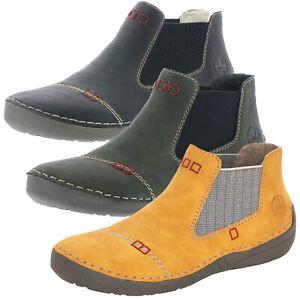 Rieker 52590 Schuhe Damen Stiefeletten Chelsea Boots 7WinT