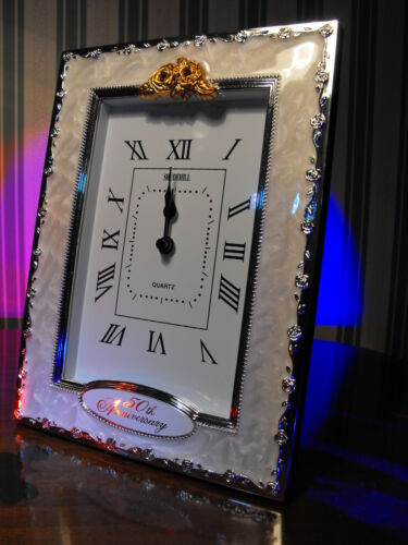 50TH WEDDING ANNIVERSARY GIFT  PRESENT GOLDEN WEDDING CLOCK GIFT  50TH GIFT NEW