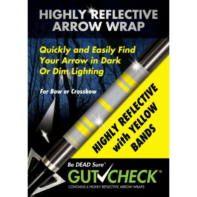 Gcr3002 for sale online Gut Check Highly Reflective Arrow Wraps Yellow 6 Pk