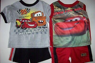 Cars Short Set 2pc Disney Pixar Boys 12 Mos 2Toddler Assorted McQueen New