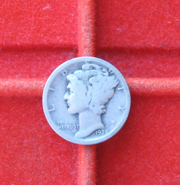 1928 D Silver Mercury Dime Fast Safe Combined Ship with Tracking & Insurance #7