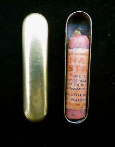 Unique Antique/Vintage Nail Polish Stick in Brass Case