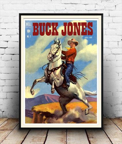 Buck Jones cowboy book cover Poster
