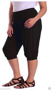 New Women/'s 3//4 Length Ali Baba Hareem Trousers Lot  Harem Pants Legging 8-26