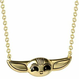 Star-Wars-The-Mandalorian-The-Child-Character-Gold-Plated-Necklace