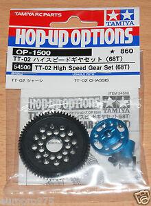 Tamiya-54500-TT-02-High-Speed-Gear-Set-68T-TT02-TT02B-TT02D-TT02T-NIP