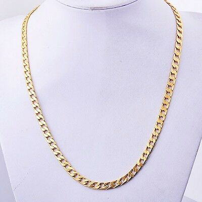 "Deluxe Yellow Gold Filled Men's Llink Chain Necklace 24.4 ""A6391"