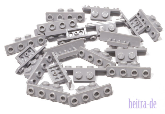 LEGO - 20 x Winkelplatte / Konverterplatte 1x2 auf 1x4 hellgrau / 2436b NEUWARE