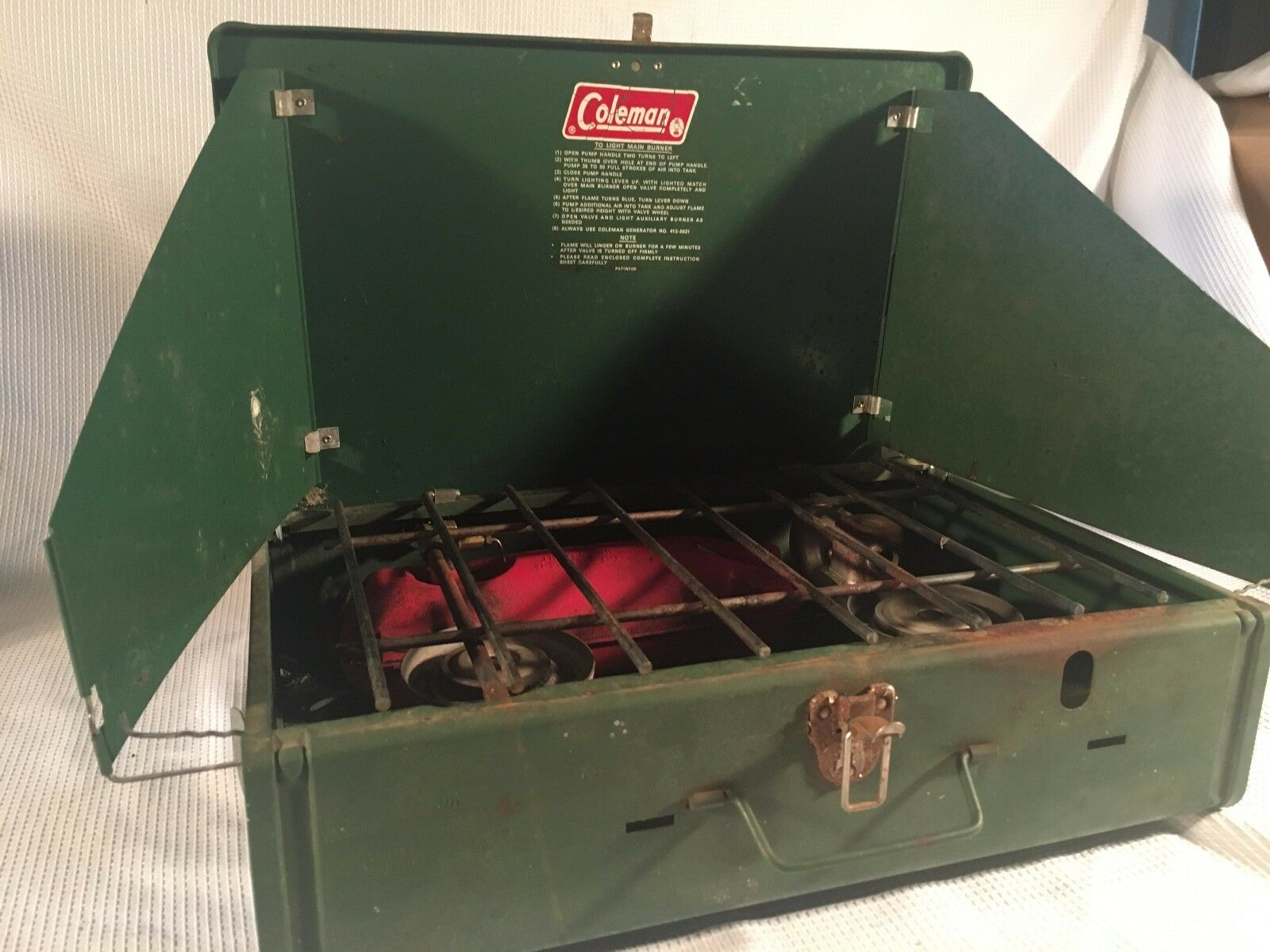 Vintage Coleman 425 E 2-Burner Camp Stove cook  food coffee hunt fish picnic bean  world famous sale online
