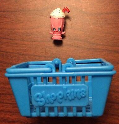NEW Shopkins Season 1 Glitter Ultra Rare pink Millie Shake 1-069 figure Dairy