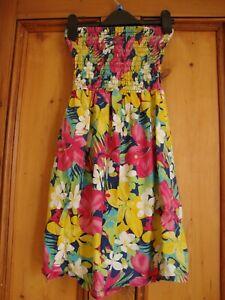 Diskret George. Multi Print Cotton Strapless Dress. Age 11/12 HeißEr Verkauf 50-70% Rabatt