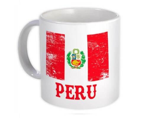 Mug Distressed Flag Patriotic Gift Peruvian Expat Country Peru