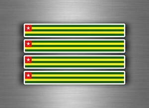 4x Sticker Decal Car Stripe Motorcycle Racing Flag Bike Moto
