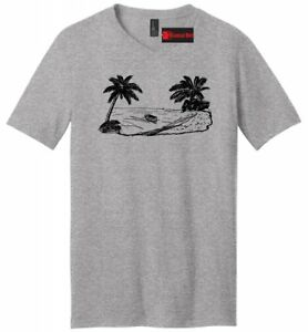 61ed35d6550ffa Beach Scene Graphic Mens V-Neck T Shirt Vacation Cruise Island ...