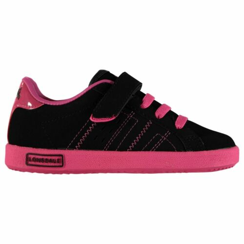 Kids Lonsdale Oval Childs Trainers Court Strap New